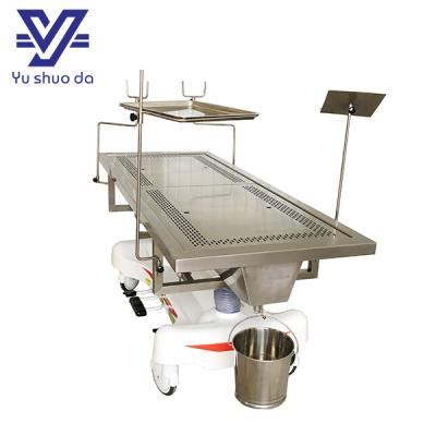 adjustable embalming table