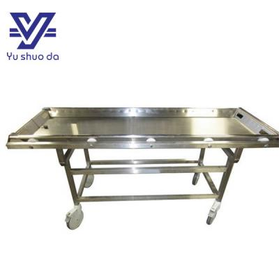 stainless steel morgue stretcher